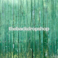 Turquoise Wood Wall Background for Photos - Fake Wood Flooring for Photography Studio Portraits - Item 921