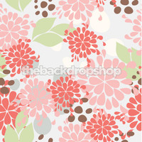 Pink Floral Photography Backdrop for weddings  - Item 939
