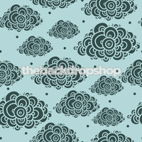 Clouds on Blue Sky Backdrop for Boys  - Item 950