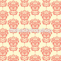Baby Girl Photo Backdrop Prop - Pink Damask  Background for Photographers - Item 991