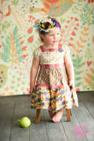 Multi Color Leaf Backdrop for Kids - Item 997