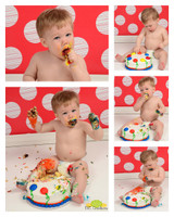 Red and White Polka Dots Backdrop for Photos - Item 1041