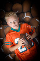 Football Theme Photography Backdrop or Floor Drop - Sports Photography Photoshoots -  Football Portrait Prop - Item 1051