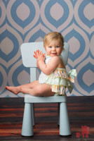 Vinyl Photography Backdrop - Poly Paper Backdrop Option Too - Blue Geometric Backdrop - Item 1058