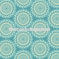 Blue Photo Backdrop for Studio Photography - Cheap Photographer's Prop - Dots Wallpaper - Item 1089