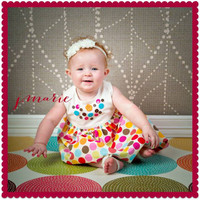 Colorful Modern Dot Photography Backdrop or Floor Drop - Item 1112