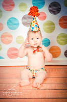 Color Dots Photography Backdrop or Floor Mat - Kid's Photoshoot Prop Background - Item 1117