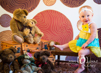 Brown Dot Photography Backdrop for Pictures  - Item 1127