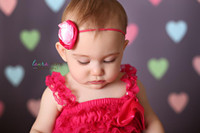 Newborn Girl Photography Backdrop - Heart Photo Background for Pictures - Item 1130