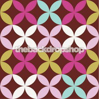 Pastel Retro Wallpaper Childrens Photo Prop - Item 1136