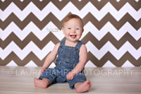 Brown and White Chevron Photography Backdrop - Chevron Pattern Photo Background for Studio Photography - Item 1166