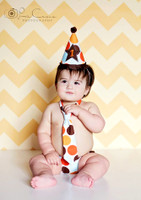 Orange Chevron Zig Zag Photography Backdrop -  Photo Background - Item 1177