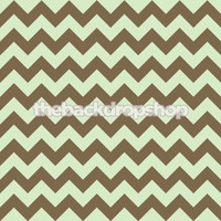 Mint Green and Brown Chevron Pattern Backdrop for Photography - Zig Zag Studio Photo Background - Item 1198