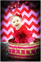 Pink and Red Chevron Zig Zag Photography Backdrop -  Photo Background - Cheap Photo Prop - Item 1205