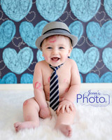 Hand Drawn Blue Heart Wallpaper Photo Backdrop- Children's Photo Prop Background - Item 1296