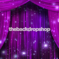 Purple Curtain Hollywood Theme Photography Backdrop - Item 1389