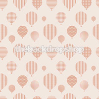 Hot Air Balloon Wallpaper Backdrop for Photography - Pink Photo Back Drop for Newborn Pictures - Item 1394