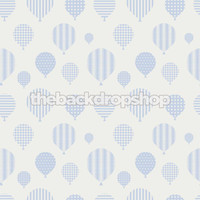 Hot Air Balloon Wallpaper Backdrop for Photography - Blue Photo Back Drop for Newborn Pictures - Item 1395