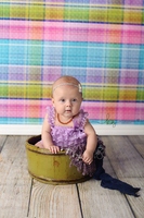 Pastel Plaid Backdrop for Photography for Children - Item 1417