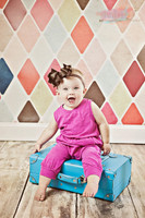 Pastel Tile Photography Backdrop - Harlequin Backdrop for Photos - Kids Photo Prop - Item 1424