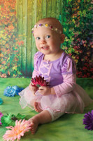 Fairy Tale Door Photo Backdrop - Magical Kid's Photography Back Drop - Rainbow Door - Item 1438