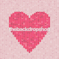 Newborn Girl Photo Backdrop - Pink Crocheted Heart Background for Photographers - Item 1445