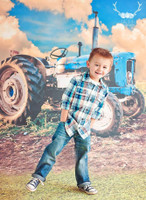 Tractor Photography Backdrop - Fun Wedding Photography Backdrop or Childrens Photo Prop - Item 1467