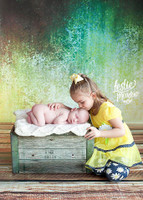 Green and Yellow Metallic Backdrop for Photography  - Item 1507