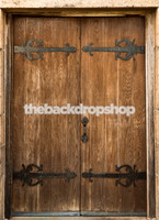 Wood Door Photo Backdrop - Wedding or Engagement Photography Backdrop - Item 1539