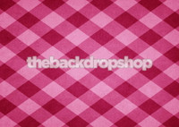 Pink Gingham Photography Backdrop -  Wallpaper Background for Photos - Item 1545