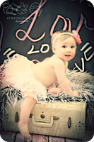 Chalkboard Backdrop for Pictures - Love and Heart Written Photography Drop - Item 1574