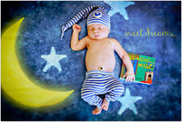 Moon and Stars Photography Backdrop - Children's Photo Background Prop - Item 1575