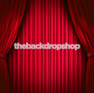 Hollywood Red Curtain Theme Photo Backdrop
