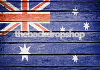 Australian National Flag Painted on Wood Patriotic Photography Backdrop - Blue Ensign - Item 1641