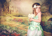 Fantasy Yellow Brick Road Photography Backdrop - Wizard of Oz Photo Back Drop - Princess Castle Backdrop - Item 1646