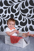 Black Swirl Pattern Photography Backdrop for Wedding or Teen Pictures -  Photoshoot Backdrop - Item 1693