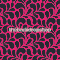 Pink And Black Pattern Photography Backdrop for Wedding or Teen Pictures -  Photoshoot Backdrop  - Item 1696