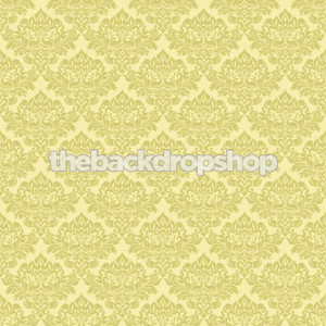 Yellow Damask Wallpaper Photo Backdrop Fancy Background For