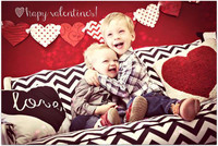 Red Heart Photo Backdrop - Valentines Day Photography Backdrop - Item 1756