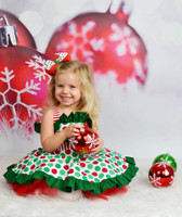 Christmas Ornaments Photo Backdrop - Christmas Bokeh Sparkle Photography Backdrop - Item 1759