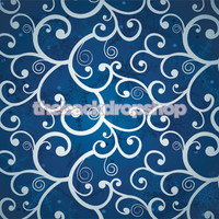 Blue Swirl Photo Backdrop - Christmas Snowflake Photography Backdrop - Item 1763