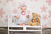 Falling Snowflakes Photography Backdrop  - Item 1781