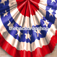 4th of July American Flag Bunting Backdrop for Photos - Item 1842