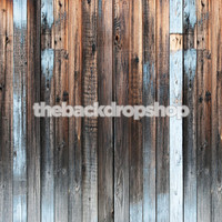 Weathered Blue Wood Floor Backdrop - Distressed Vintage Wood Floor Drop - Vintage Wood Photography Backdrop - Item 1888