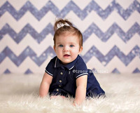Dark Blue Glitter Chevron Photography Backdrop - Photo Backdrop for Boys - Item 1979