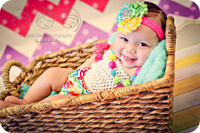 Rainbow Polka Dot Chevron Photography Backdrop - Item 2001