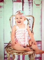 Mint Green Wide Plank Wood Backdrop for Pictures - Item 2028