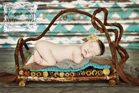 Turquoise Chevron Over Wood Backdrop - Item 2039