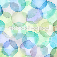 Boys Blue and Green Watercolor Dots Backdrop - Item 2043