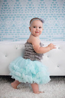Aqua Lace Photography Backdrop - Item 2045